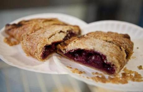 The tart cherry hand pie was one of the samples served at the Buttermilk Baking Company on the tour.